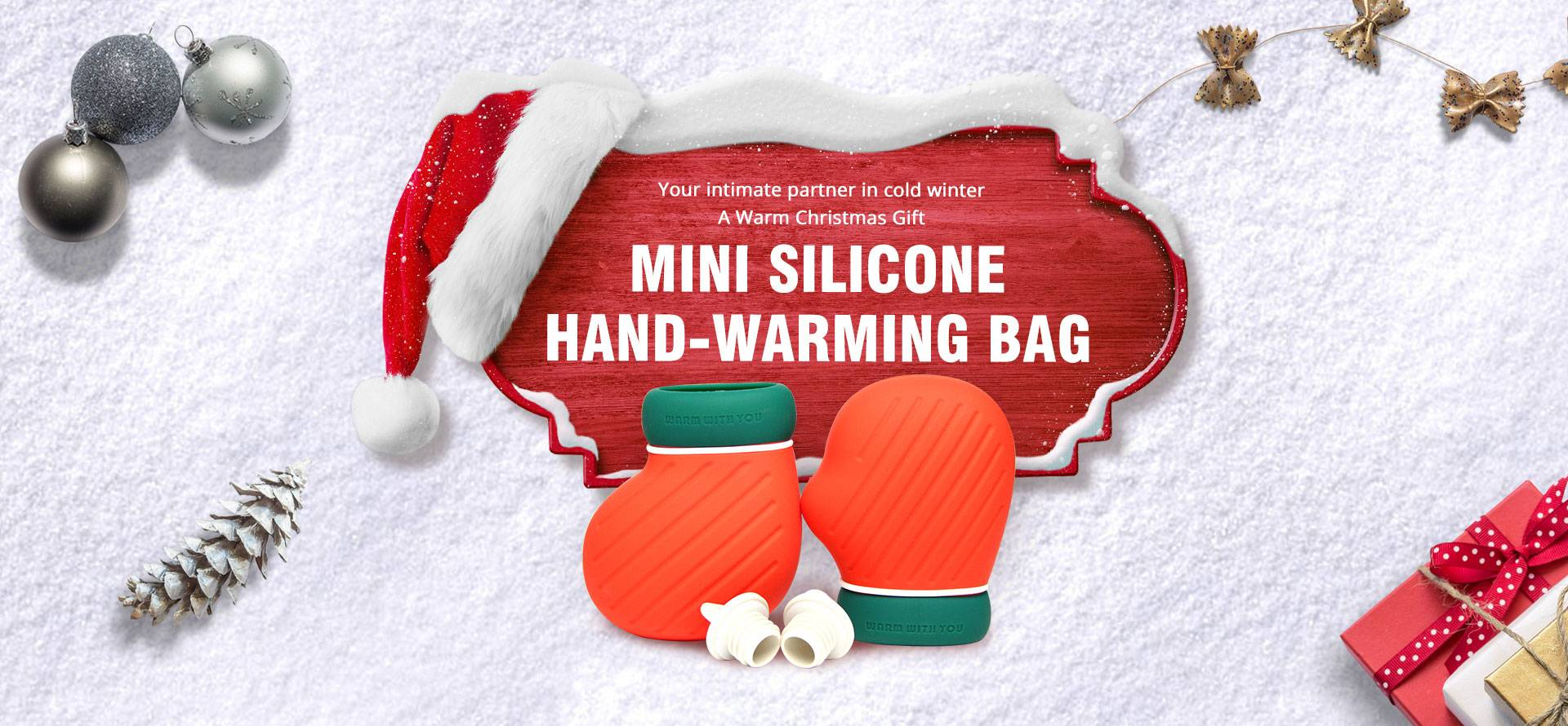 Silicone Hot Water Bottle Christmas Gifts Wholesale
