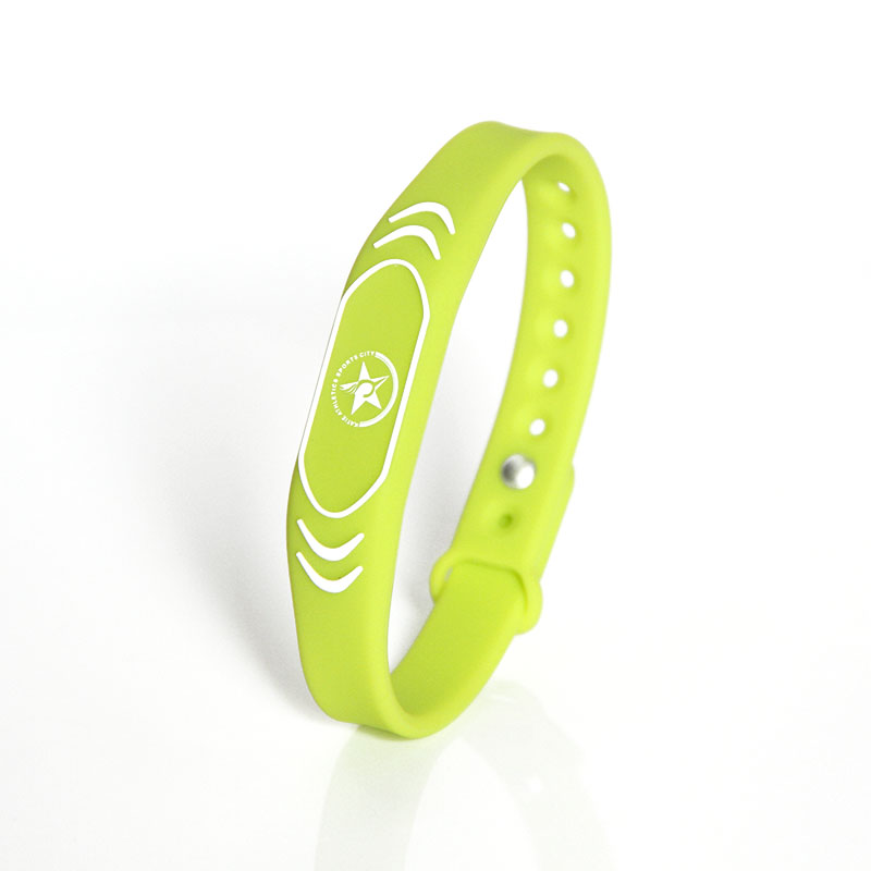 Adjustable Passive Silicone RFID Wristband Access Control Function