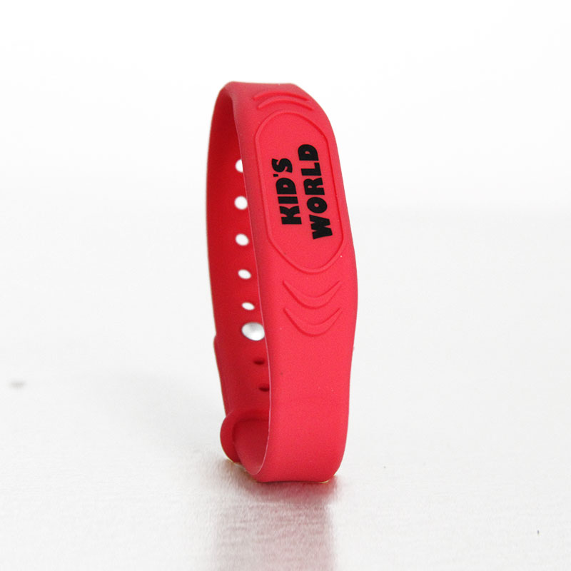 Waterproof RFID Bracelet Adjustable Silicone Wristband For Kids