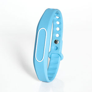 Adjustable Light Blue Silicone HF Wristbands With RFID Chips