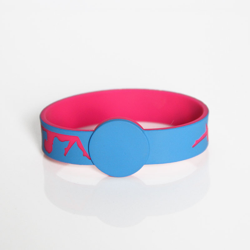 Eco-friendly Silicone Debossed Logo NFC RFID Festival Wristbands