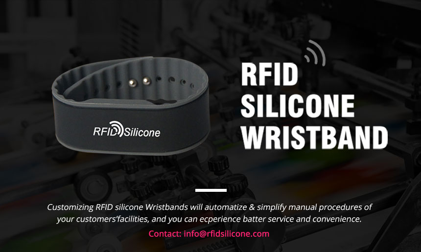 Black Silicone NFC Festival Wristband For Water Park