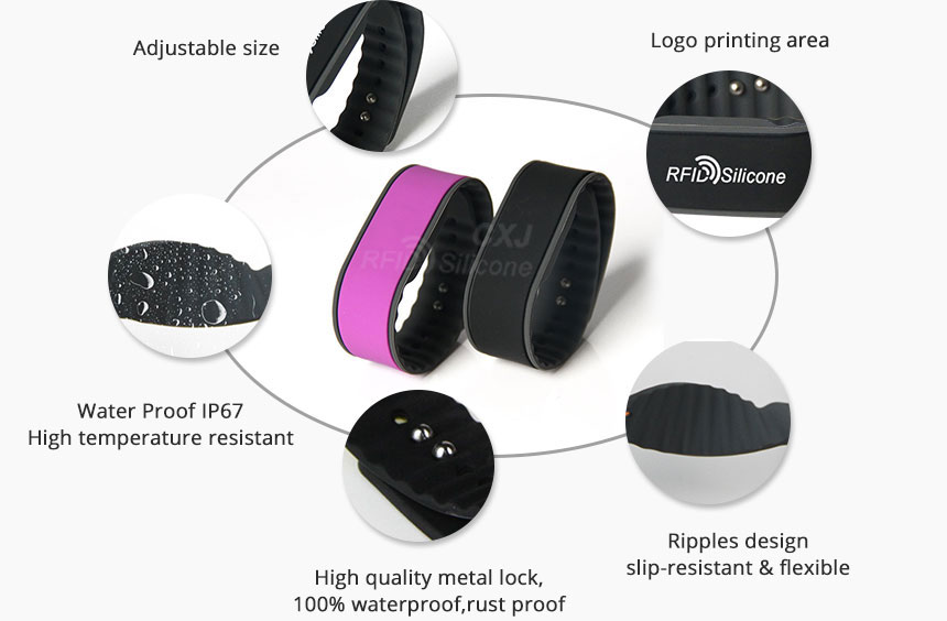 Silicone NFC Festival Wristband Details