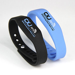 Waterproof RFID Wristband Silicone Adjustable Bracelet With Chip
