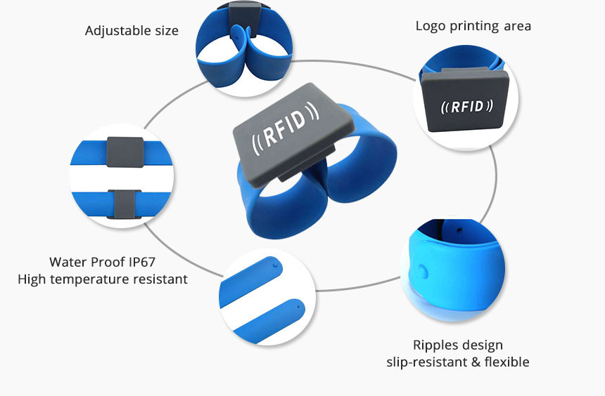 Flexible Slap Silicone NFC Wristband RS-AW046 Details