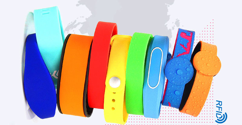 What are RFID wristbands used in consumer industry