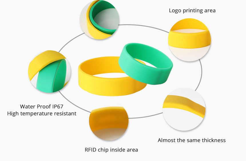 Silicone RFID Bracelet For Event RS-CW022 Details