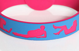 Debossed Logo RFID Festival Wristbands RS-CW026