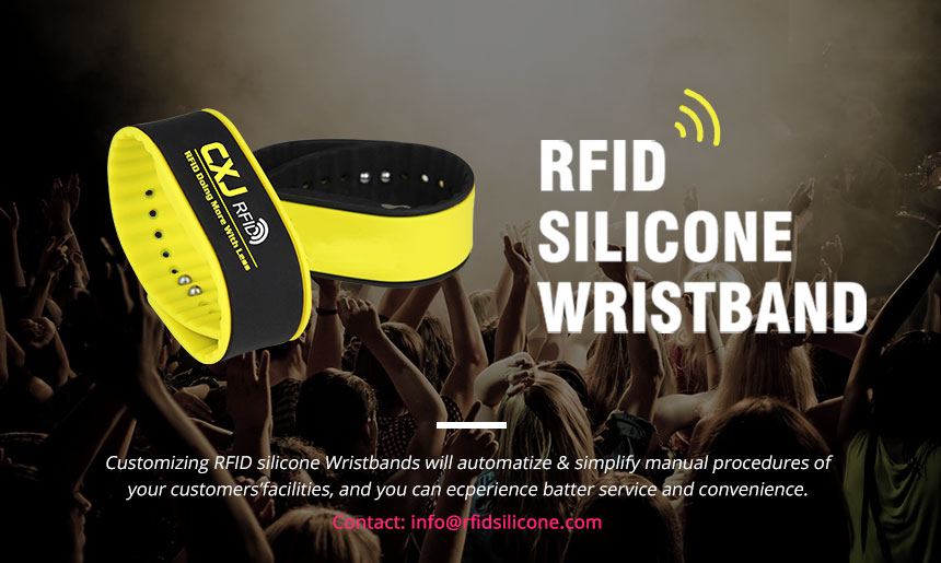 Waterproof RFID Silicone Wristband RS-AW011