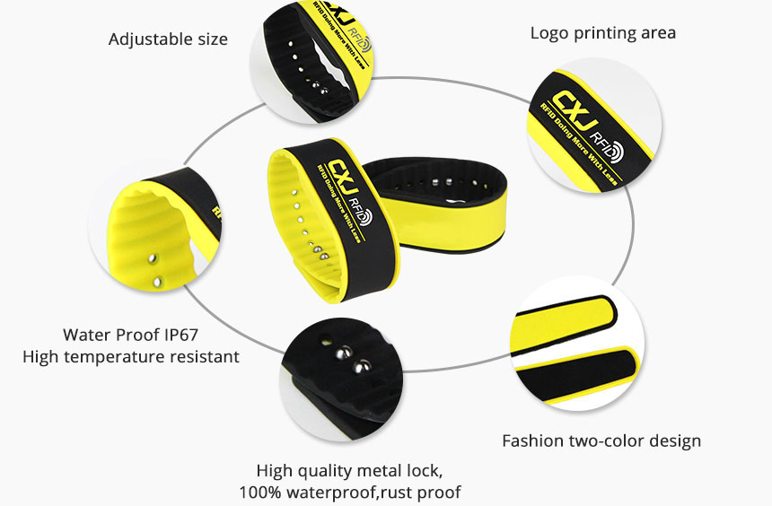 RFID Silicone Wristband RS-AW011 Details