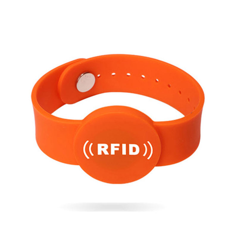 Magnetic Lock One Time Use Wristbands Silicone RFID Bracelets