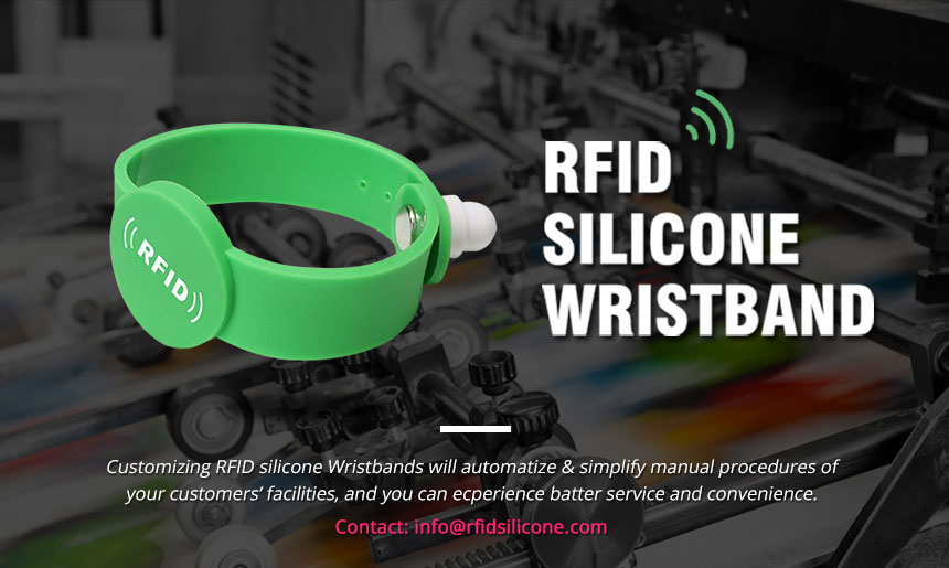 One Time Use Wristbands Magnetic Lock  Silicone RFID Bracelets RS-AW050