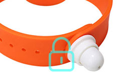 Silicone RFID Bracelets RS-AW050 With Magnetic Lock