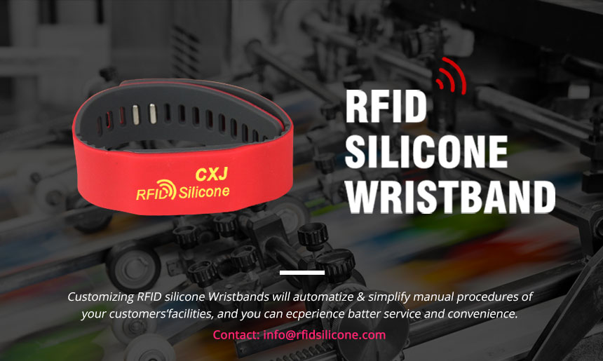 RS-AW022 UHF HF LF Silicone RFID Bracelets For Events