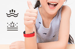 RS-AW022 Wearable UHF HF LF Silicone RFID Bracelets For Events