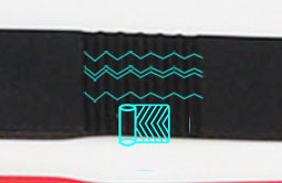 Non-slip RS-AW022 UHF HF LF Silicone RFID Bracelets For Events