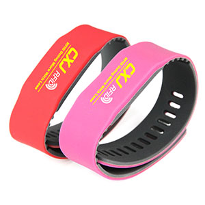 CXJ Silicone Wristbands UHF/HF/LF Tag RFID Bracelets For Events
