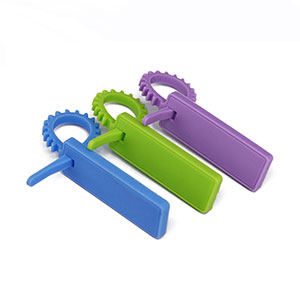 Reusable Rubber Cable Ties 13.56MHz Silicone RFID Tags