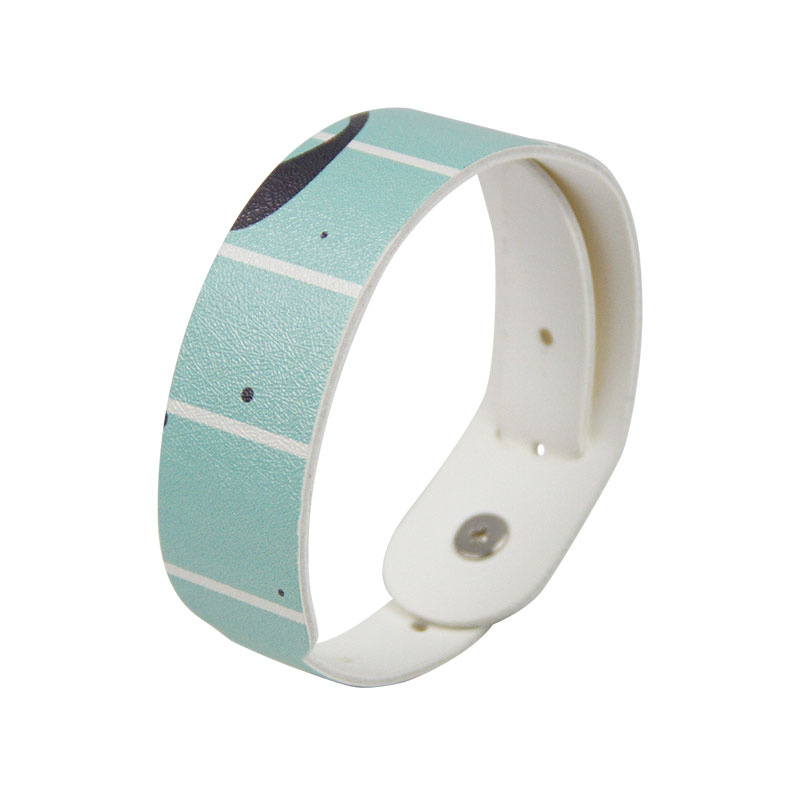 Customized MIFARE Classic® 1K PU Leather Printed Wristbands