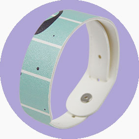 Fashionable RFID PU Leather Printed Wristbands