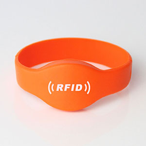 LF HF UHF Oval Head Silicone RFID Wristbands RS-CW001