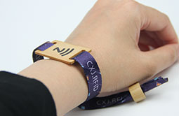 Wearable Printed RS-FW001 RFID Fabric Wristbands For Events