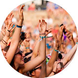 RFID fabric wristbands are used for large concerts and festivals
